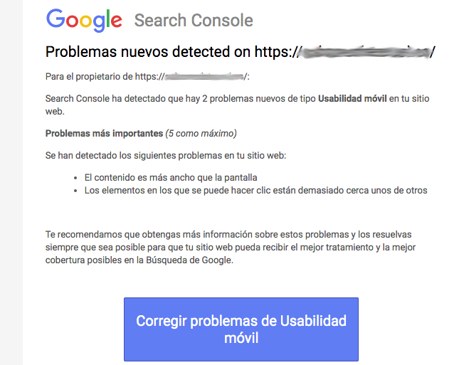 google search console error